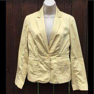 Talbots, Soft Yellow, Casual Blazer. EUC. Size 2